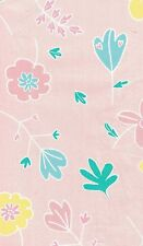 Target Bub. Prairie Pink Flowers & Hearts 250 Thread Count Cot Quilt Cover Set