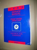 Chrysler Corp. Front Wheel Drive Service Manual 1993 Electrical, Fuel, Emissions