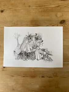 Original Jake And Dinos Chapman Ink Drawing Unfinished (read Description)