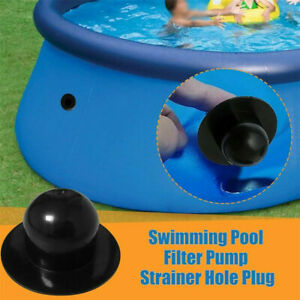 SWIMMING POOL FILTER PUMP STRAINER HOLE PLUG WATER STOPPER BLACK FOR INTEX