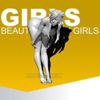 Unpainted 1/35 Runway Girl Resin Beauty Girl Figure Model Kit Unassembled GK