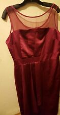 MUST LOOK  GRACE HILL BURGANDY PROM WEDDING PARTY DRESS Size 16/18