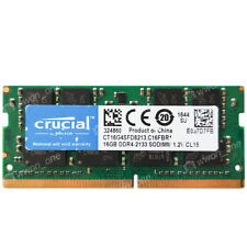 Crucial 16GB PC4-17000R DDR4 2133MHz 260Pin Unbuffered SODIMM Laptop Memory CL15