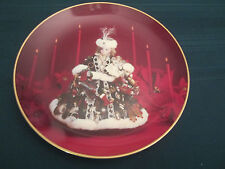 CHRISTMAS LADY Doll Collector Plate FRENCH DOLL Gorham