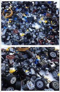 LEGO - 20 MIXED Pieces Of Axles,Tyres, & Wheels Per Order / Random Selection