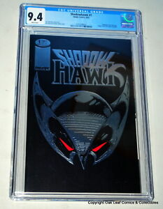 Shadowhawk 1 CGC 9.4 WP 1992 Embossed Silver Foil Image Comic Book