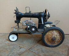 Handmade Steampunk Sewing Machine Locomotive Steam Engine Assemblage