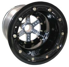 "KEIZER ALUMINUM WHEEL,27 SPLINE,10x14"",5"",BEADLOCK,MICRO-SPRINT,600 MINI,BLACK"