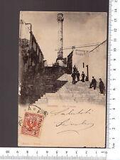 CARTOLINA BRINDISI - VIA COLONNA - VIAGGIATA 1901