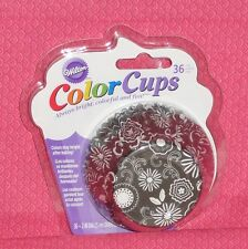Floral Design,Black/White Cupcake Papers,Color Cup,Foil Lined,Wilton,415-2166