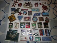 39 RUSSIAN BADGES, PINS ALL DIFFERENT FROM THE 1970'S NOS SOVIET USSR