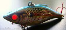 Rattlin Rapala RNR-08 Lure Holo. Blue Shad w/Custom GLOWING RED FIBER OPTIC EYE