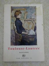 TOULOUSE-LAUTREC PAINTINGS by Gerald Gassiot-Talabot -1966 miniature