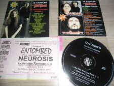 entombed promo 3cds promo+ticket/ iron maiden/motorhead