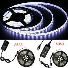 5M 300Leds SMD 3528/5050 RGB/White/Red/Green/Blue LED Strip Light Remote Power