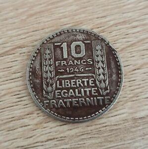 TURIN 10 francs 1946 RAMEAUX LONGS rare etat TB