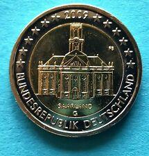 Deutschland  2 Euro Gedenkmünze 2009 G Saarland Ludwigskirche UNC  aus Rolle