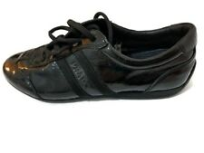 Prada woman patent leather black rubber sole sneakers, us 6.5, uk 3.5, eu 36.5