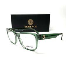 Versace VE3266 5144 Green Demo Lens Men Rectangle Eyeglasses 55mm