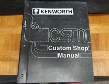 KENWORTH CUSTOM SHOP MANUAL W900B