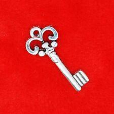 15 x Tibetan Silver Vintage Key Type 11 Charm Pendant Jewellery Making