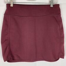 Athleta Maroon Fleece Lined Tech Stretch Wander Skirt SP Small