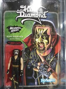 King Diamond with RED & BLACK CAPE Action Figure Super 7 Reaction