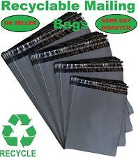 Mailing Bags Grey Strong Post Poly Plastic Mailer Bags Recyclable Self Seal