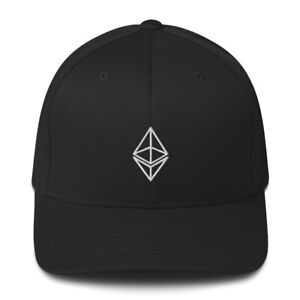 Ethereum ETH Crypto Flex-Fit Hat Cryptocurrency Embroidered Structured Twill Cap