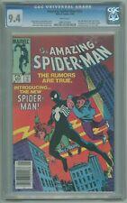 Amazing Spider-Man # 252 CGC 9.4 NM CPV Canadian Price Variant 1st Black Costume