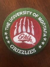 """University Of Montana Grizzlies """" GRIZ Vintage Embroidered Iron Patch 3"""" x 3""""."""