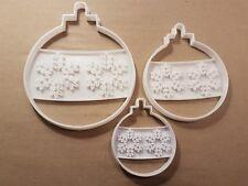 Bauble Snowflake Xmas Decoration Shape Cookie Cutter Dough Biscuit Fondant Stamp
