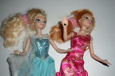 """LA REINE DES NEIGES 1 lot poupées Anna et Elsa musicales et illuminées """"RARE"""""""