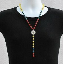 COLOMBIA FLAG NECKLACE, Colombian Flag Pendant Collar Bandera Colombiana Charm