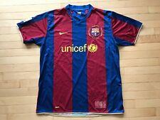 Rare Nike 1957-2007 Camp Nou FC Barcelona UNICEF Home Soccer Jersey Mens Sz XL