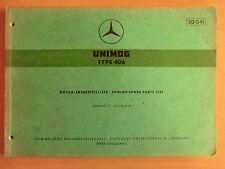 Ersatzteilliste Motor UNIMOG 406 OM 312.954 Ausgabe 1963 OM312 Parts List