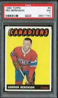 1965 TOPPS #9 RED BERENSON PSA 7 CANADIENS CENTERED *CG0497