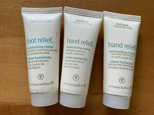 NEW | AVEDA | 2 Hand & 1 Foot Moisturizing Creams | 1.4oz | Travel Sizes