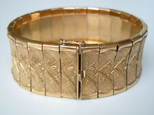 "Altes massives ""Amerikaner MP"" Double vergoldetes Armband 47,9 g/18,5 cm"