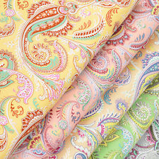 Cotton Fabric by FQ Vintage Paisley & Retro Floral Dress Quilt LuckyFabrics VK58