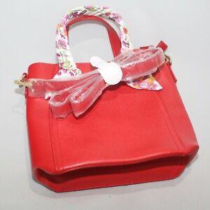 Estee Lauder Red Crossbody Purse Bag Faux Leather