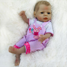 55cm Realistic Full Body Silicone Vinyl Reborn Baby Girl Doll Puppen Waterproof