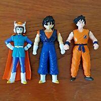 3x Dragon Ball Z B.S./S. Figures Videl Great Saiyaman Yamcha Vegito