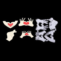 Love gesture Metal Cutting Dies Stencils for DIY Scrapbook Album Cards Making Kd