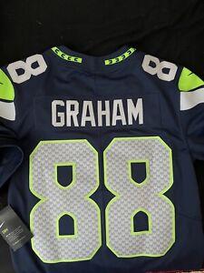 NEW Jimmy Graham #88 Seattle Seahawks Nike On Field Stitched Nike Jersey -Large