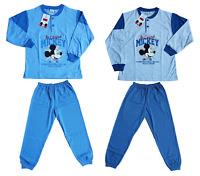 Pigiama lungo Bambino in Cotone Jersey Disney MICKEY EWDB298 Bimbo mod. Serafino