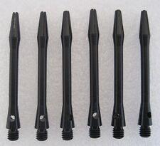 2 Sets of 3 Aluminium Medium Dart Stems - black