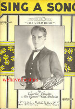 "THE GOLD RUSH Sheet Music ""Sing A Song"" Charlie Chaplin"