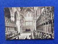 Sepia postcard: Yorkshire, Beverley Minster interior, east window and choir