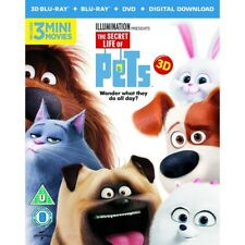 Illumination The Secret Life of Pets 3D Lenticular Slipcover (2D + 3D Blu-ray)